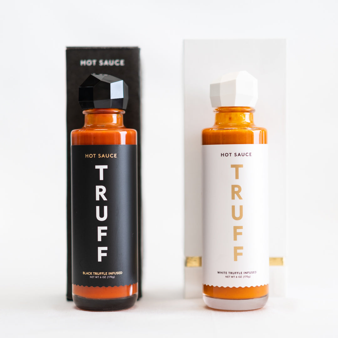 Black and white truffles are used for Truff's hot sauces.
