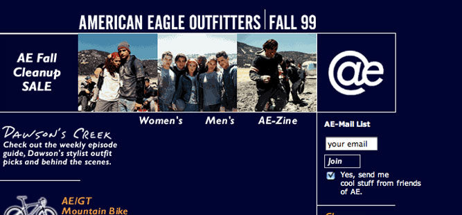 American Eagle Outfitters  - 1999
