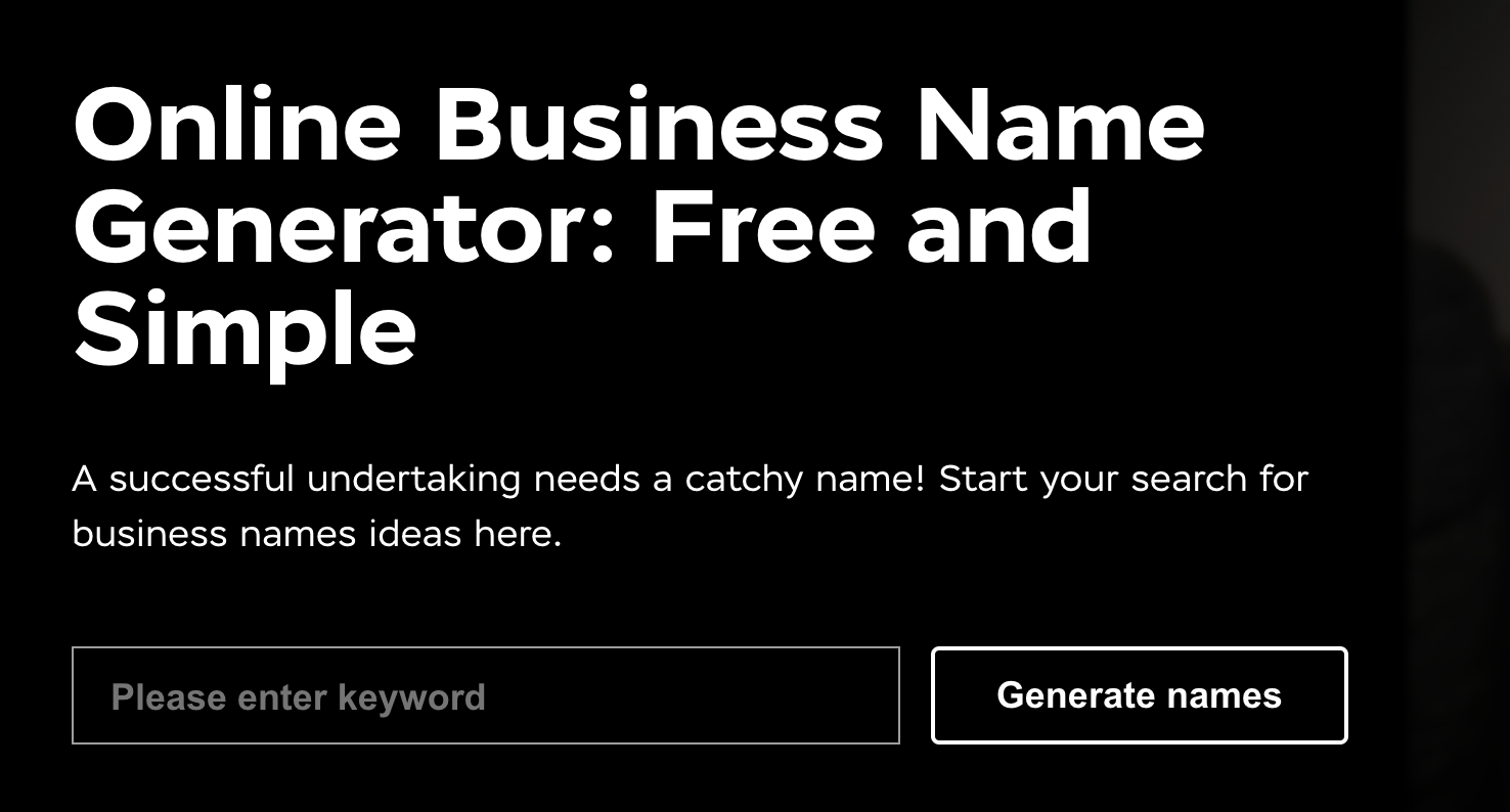 Anadea business name generator