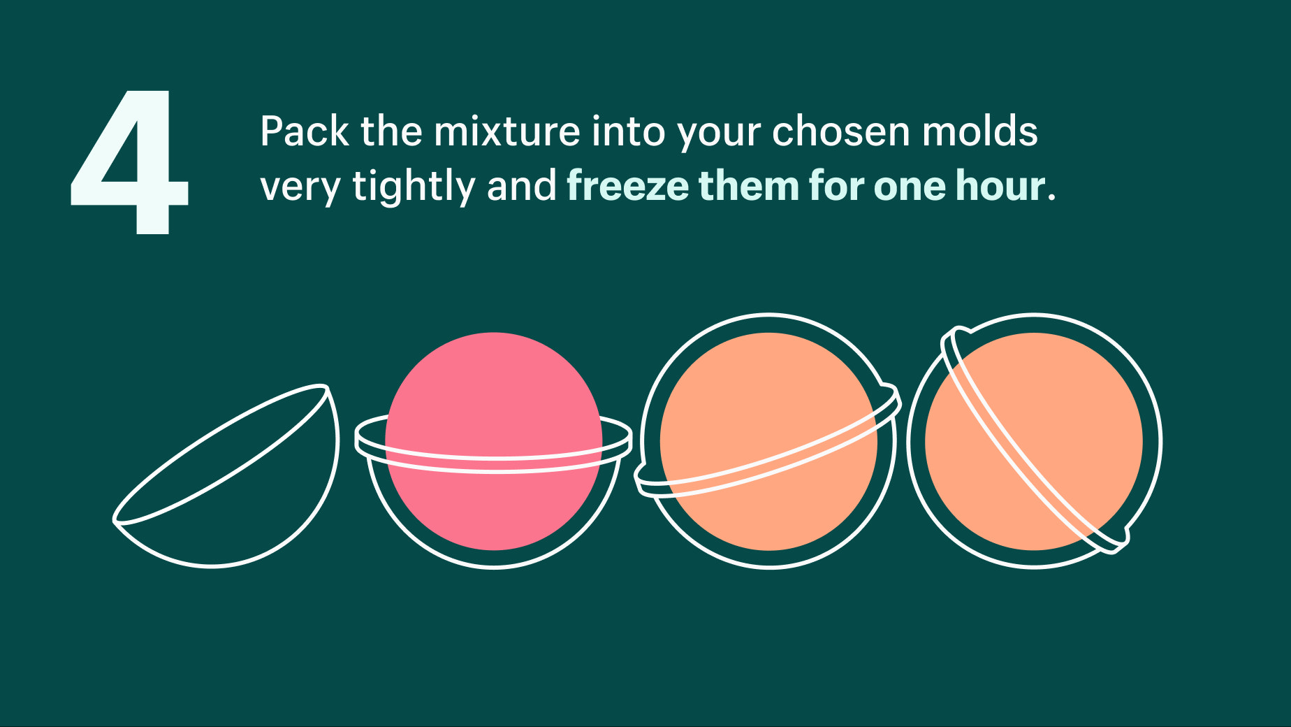 pack mixture into a mold