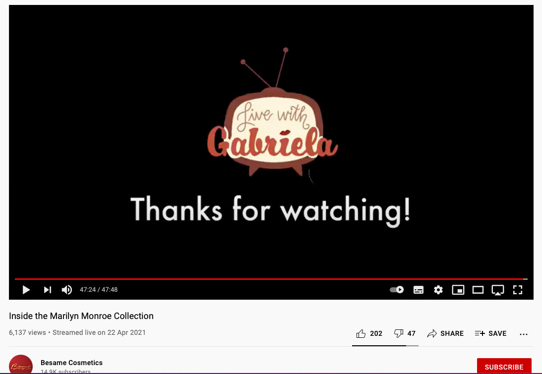 Create an end screen to thank your viewers for watching