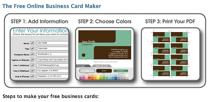 Quick Business Cards In Openofficeorg Template Download Free - Free online business card template