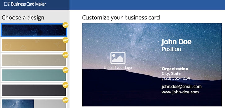 bussiness card maker