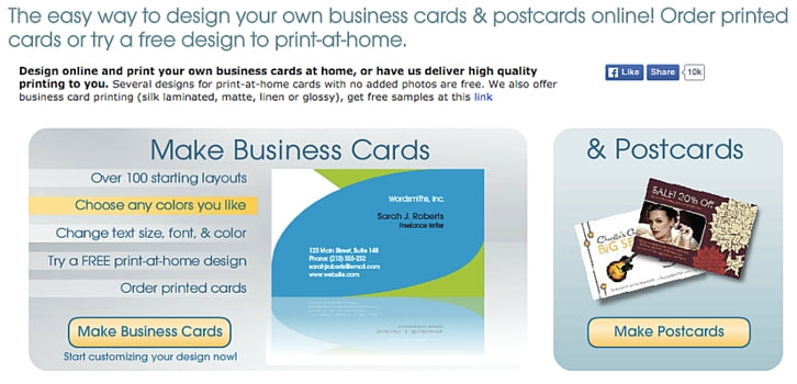 10 free business card makers with customizable templates business card star reheart Choice Image
