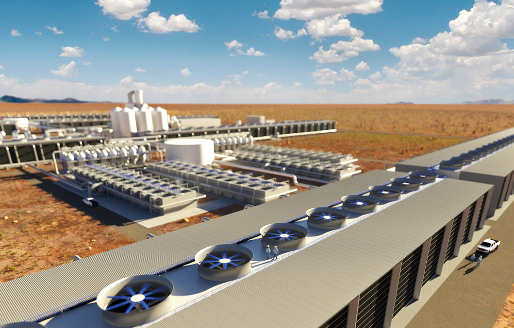 Carbon Engineering's direct air capture plant rendering