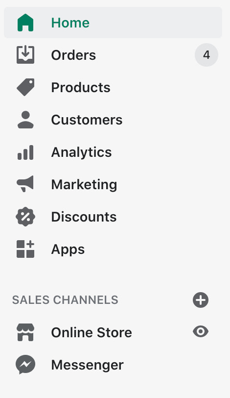 Shopify dashboard connecting to Amazon