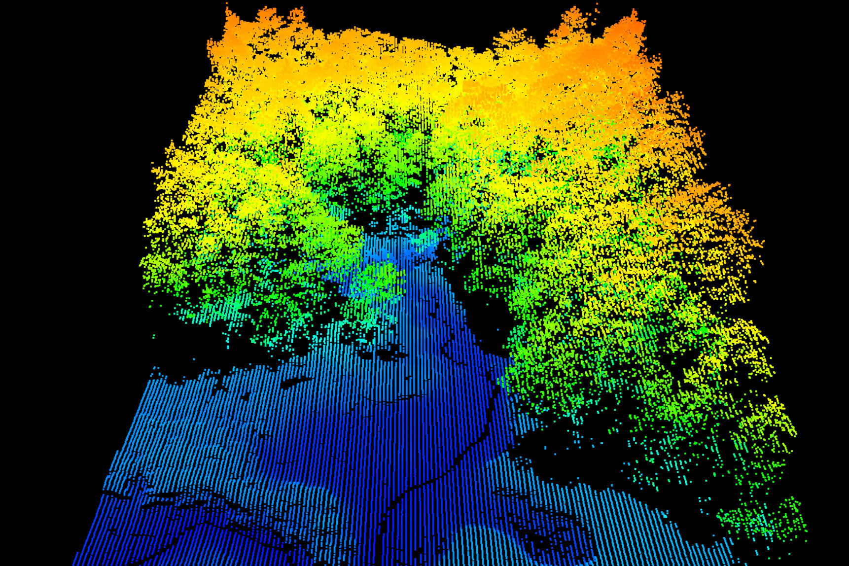 Pachama uses LIDAR technology to calculate biomass density in forests.