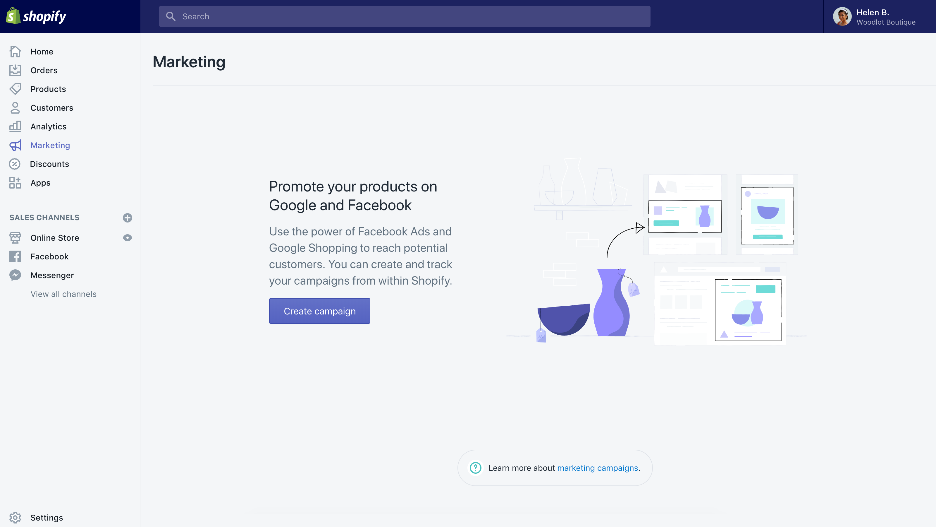 Marketing in Shopify: Streamline your marketing
