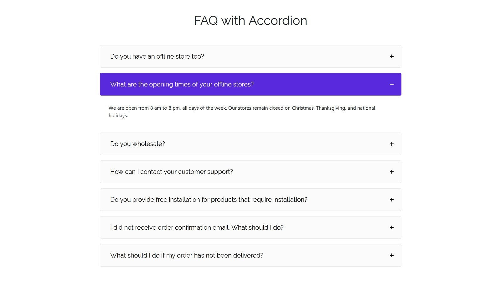Fancy FAQ Shopify App