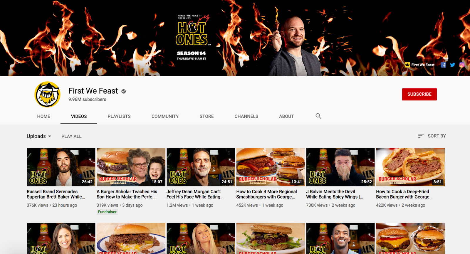 First We Feast YouTube Channel