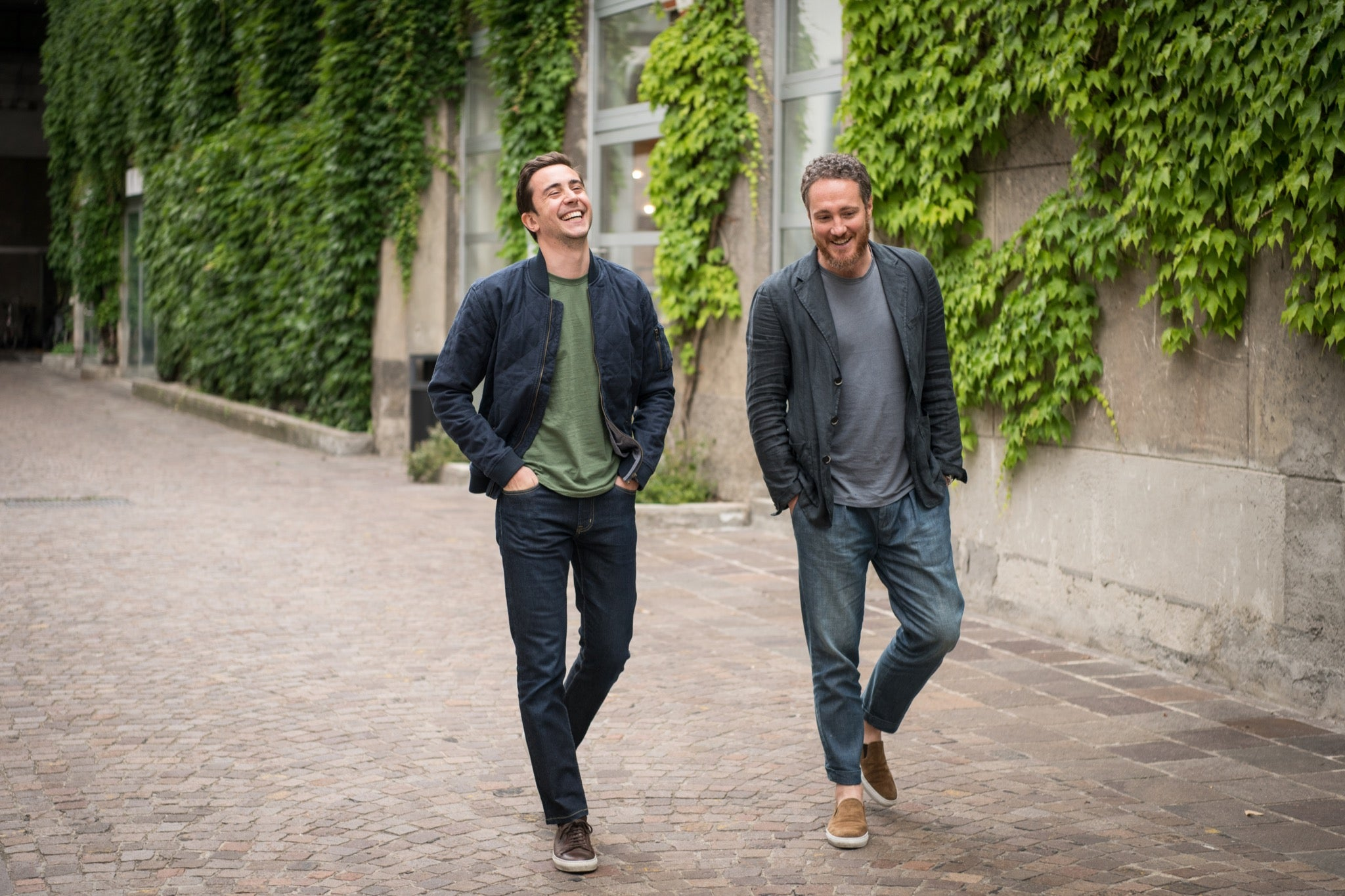 Co-founders Enrico Castai (left) and Jacopo Sebastio (right) in the Tortona district of Milan, where Velasca is headquartered.