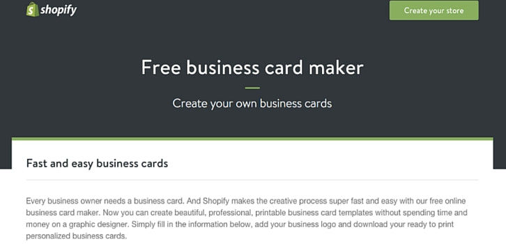 Custom Card Template business card maker free : 10 Free Business Card Makers With Customizable Templates