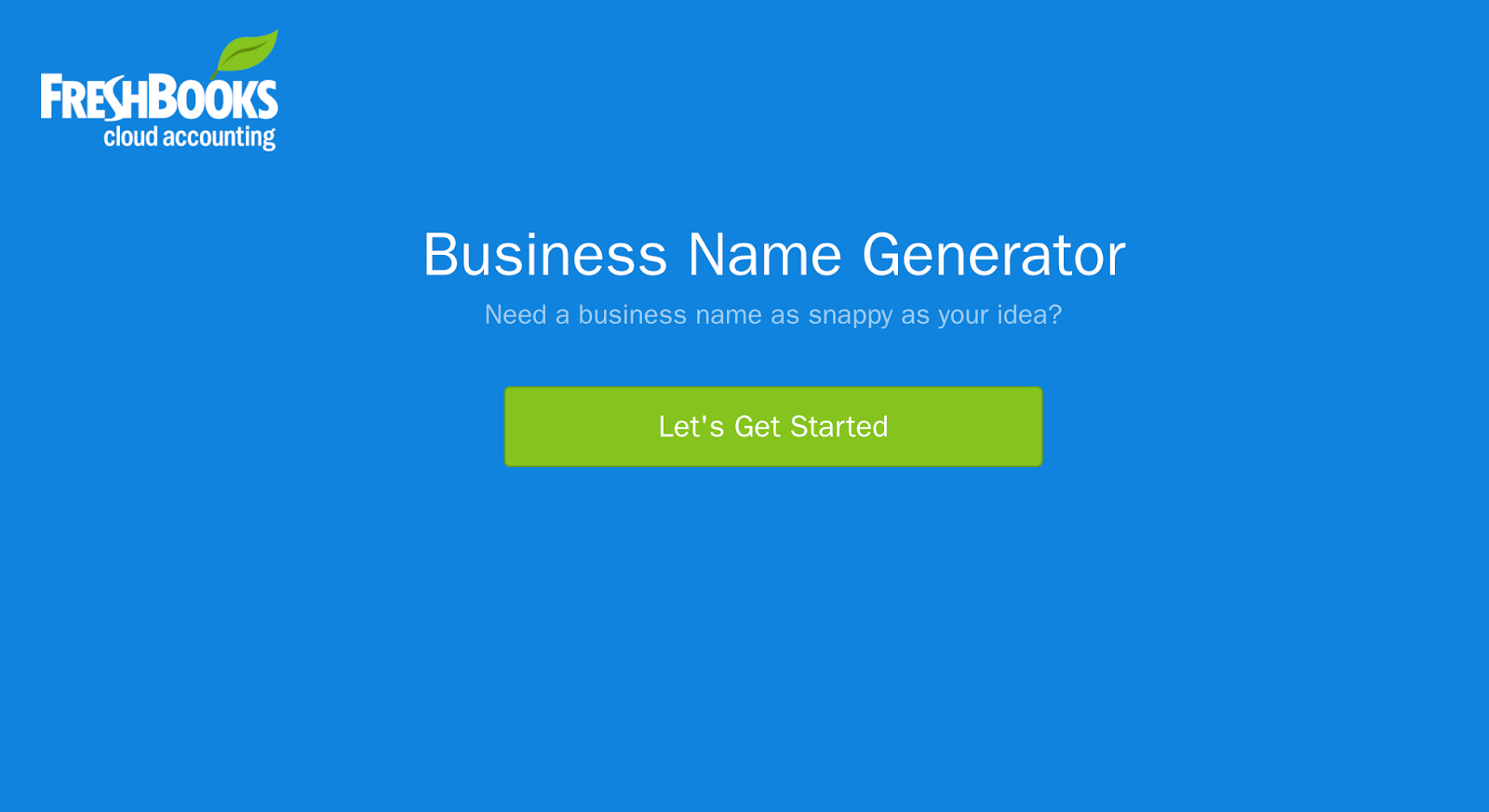 Freshbooks business name generator