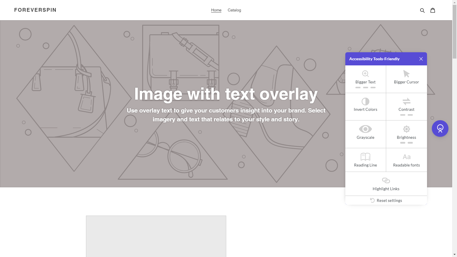 Friendly Accessibility Tools Shopify App