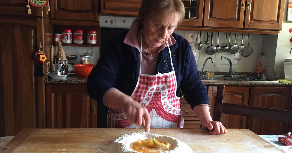 Nonna Nerina makes pasta from scratch