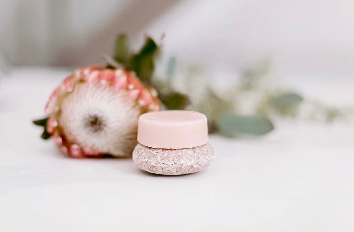 A shampoo and conditioner bar by Unwrapped Life.