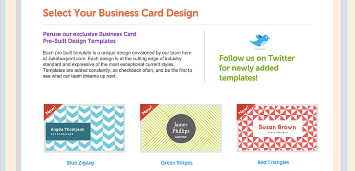 10 free business card makers with customizable templates 3 jukebox jukebox screenshot jukebox offers a variety of business card templates accmission Gallery