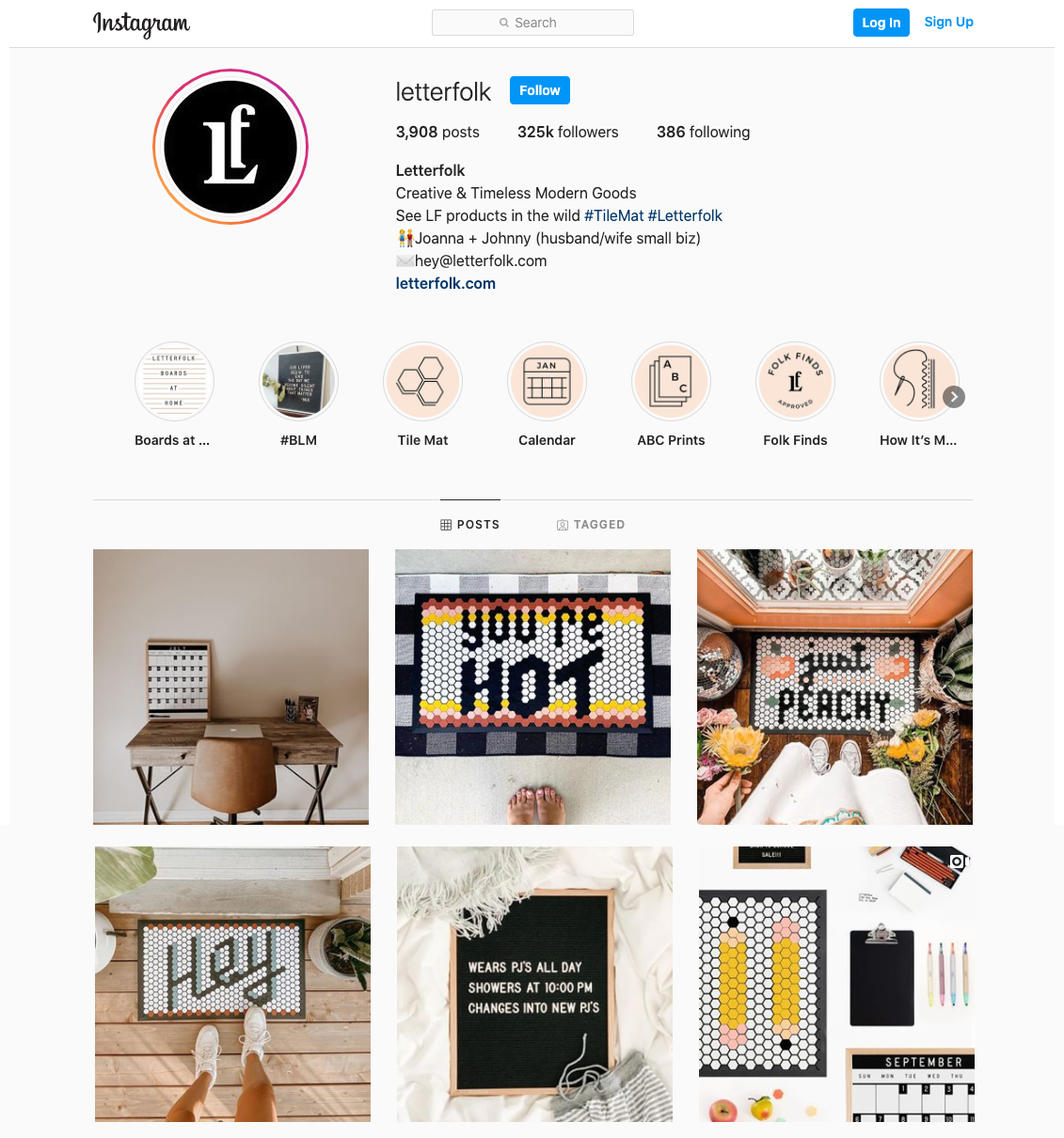 Letterfolk Instagram Profile