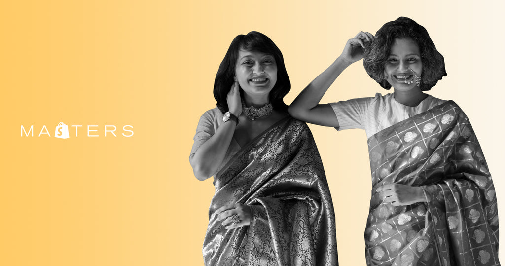 Founders of Suta, Sujata and Taniya Biswas.
