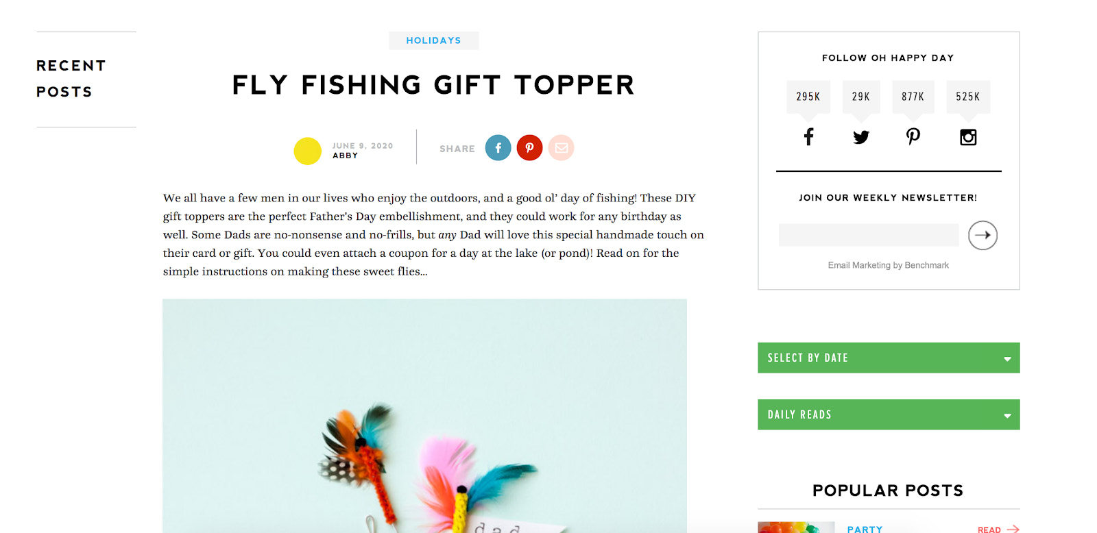 Oh Happy Day Blogging example