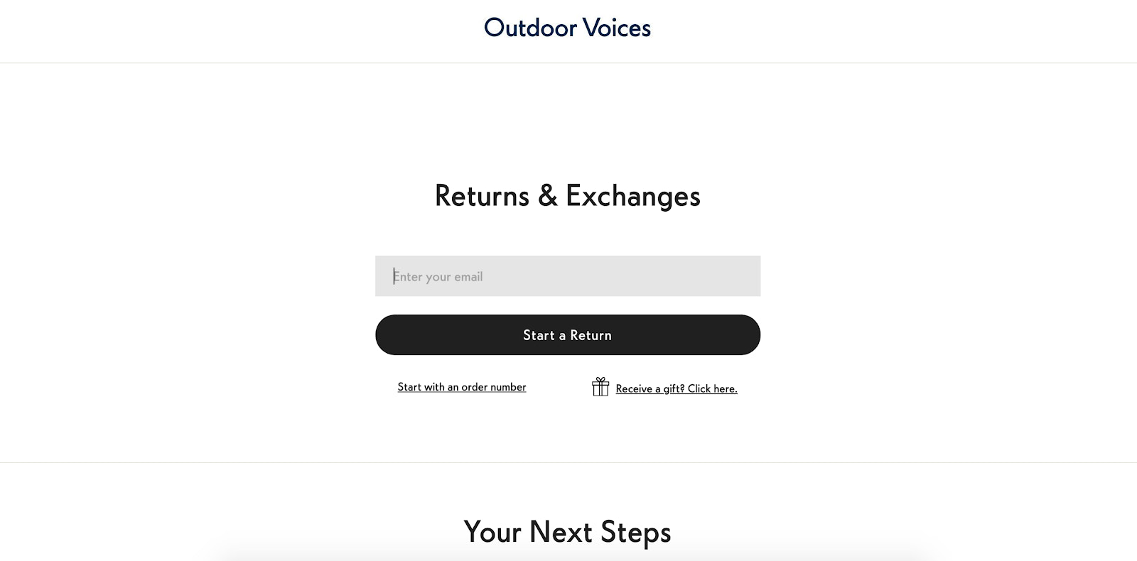 Outdoor Voices using Returnly