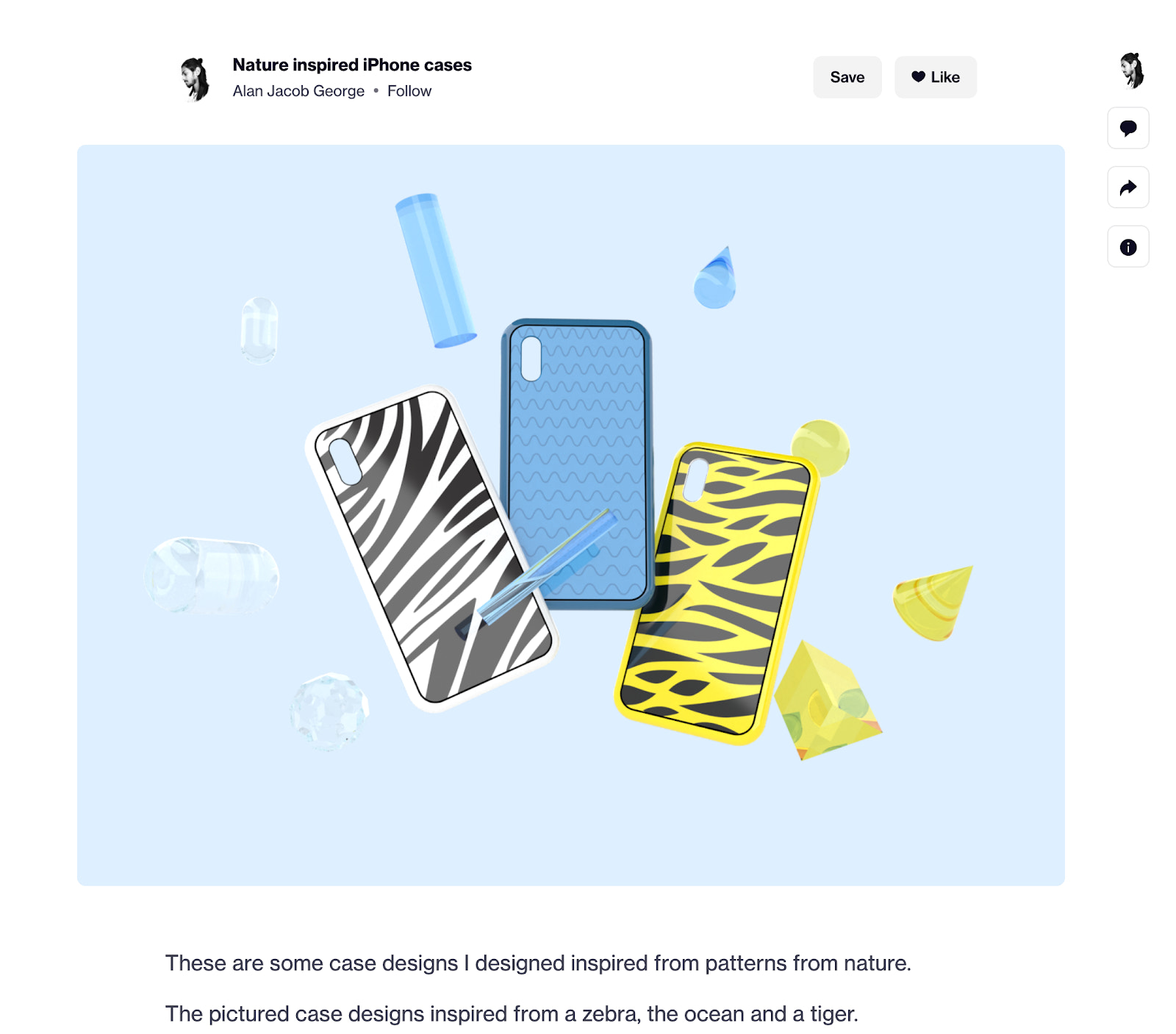 Phone cases on Dribbble