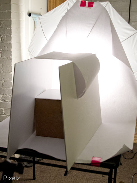 box backlighting product photography