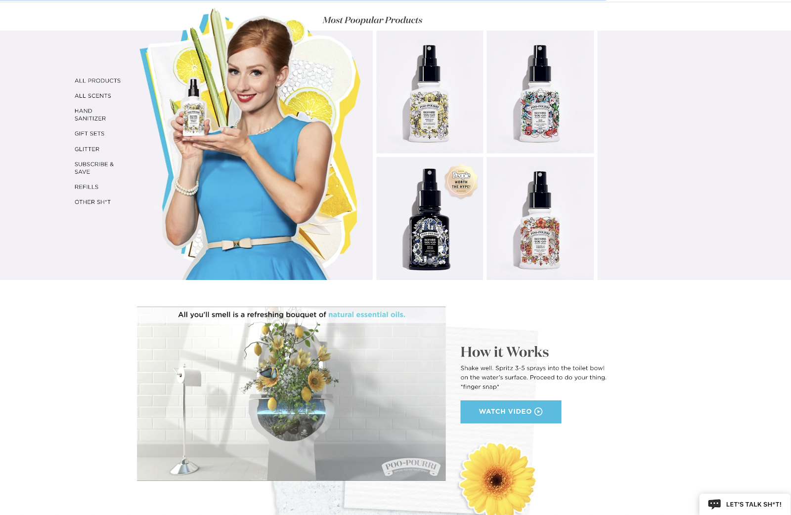 PooPurri Product Page with Video