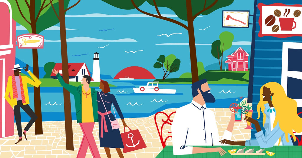 illustration of portland maine