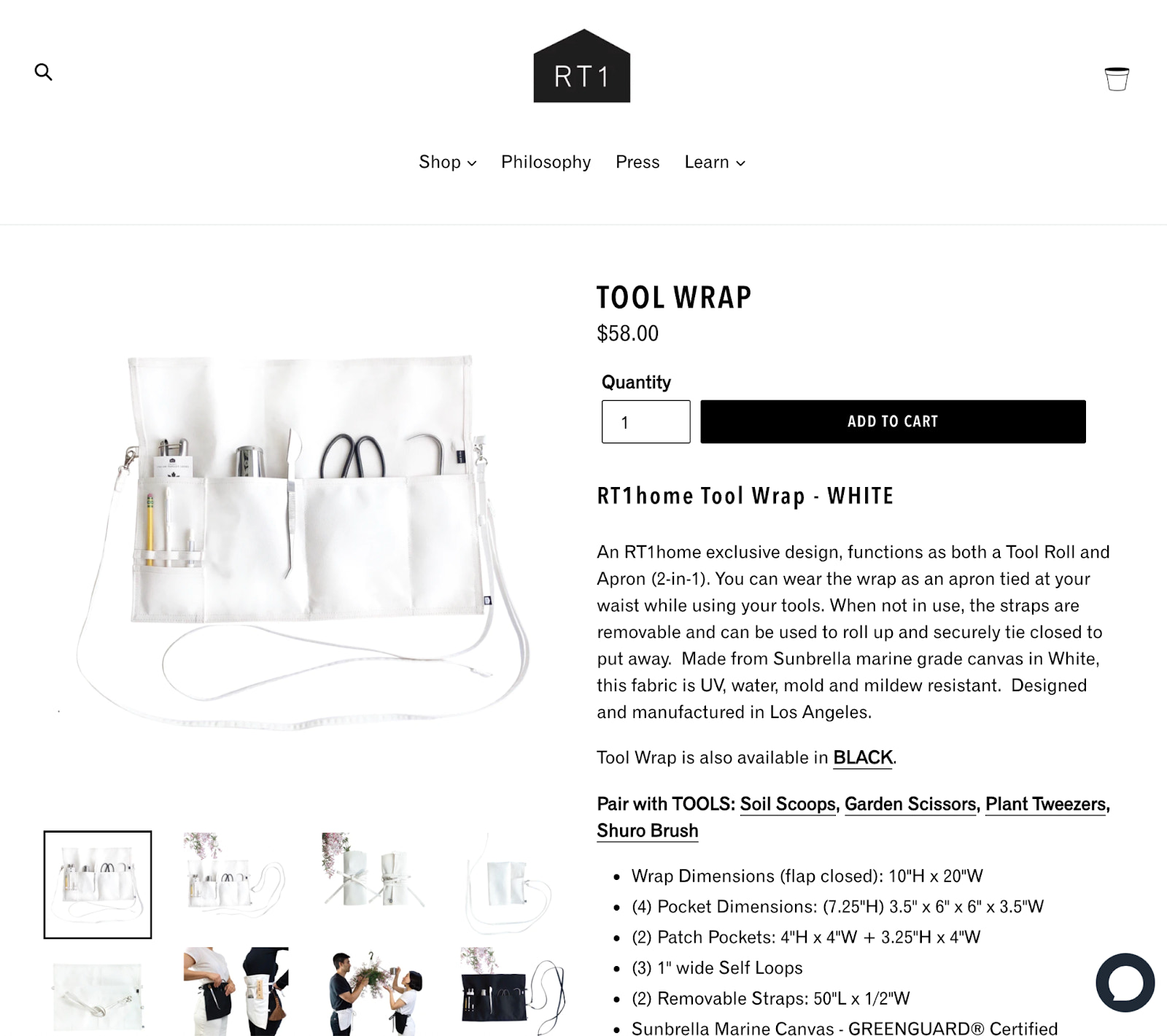 RT1Home product page