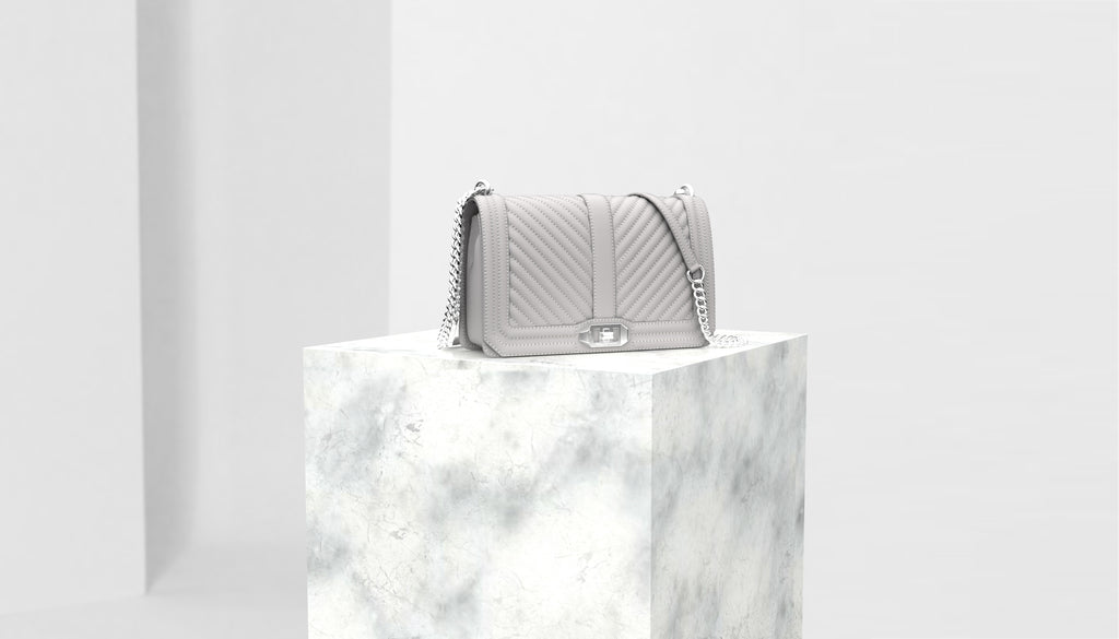 3D model of Rebecca Minkoff bag on Shopify