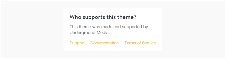 Consider Theme Support as a Deciding Factor