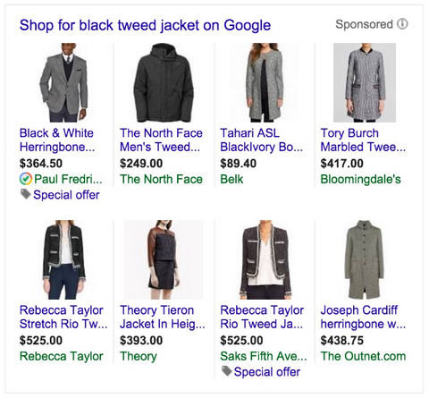 shopify google shopping example