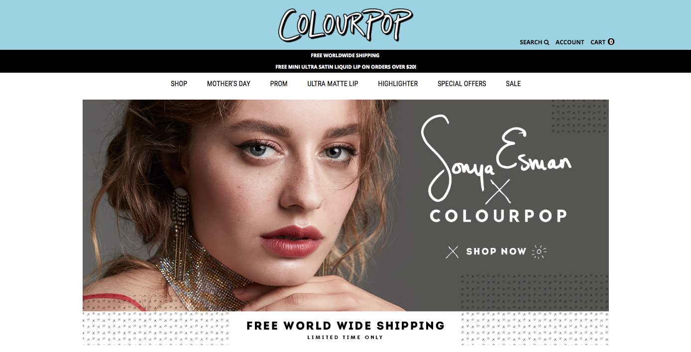 ColourPop Ecommerce