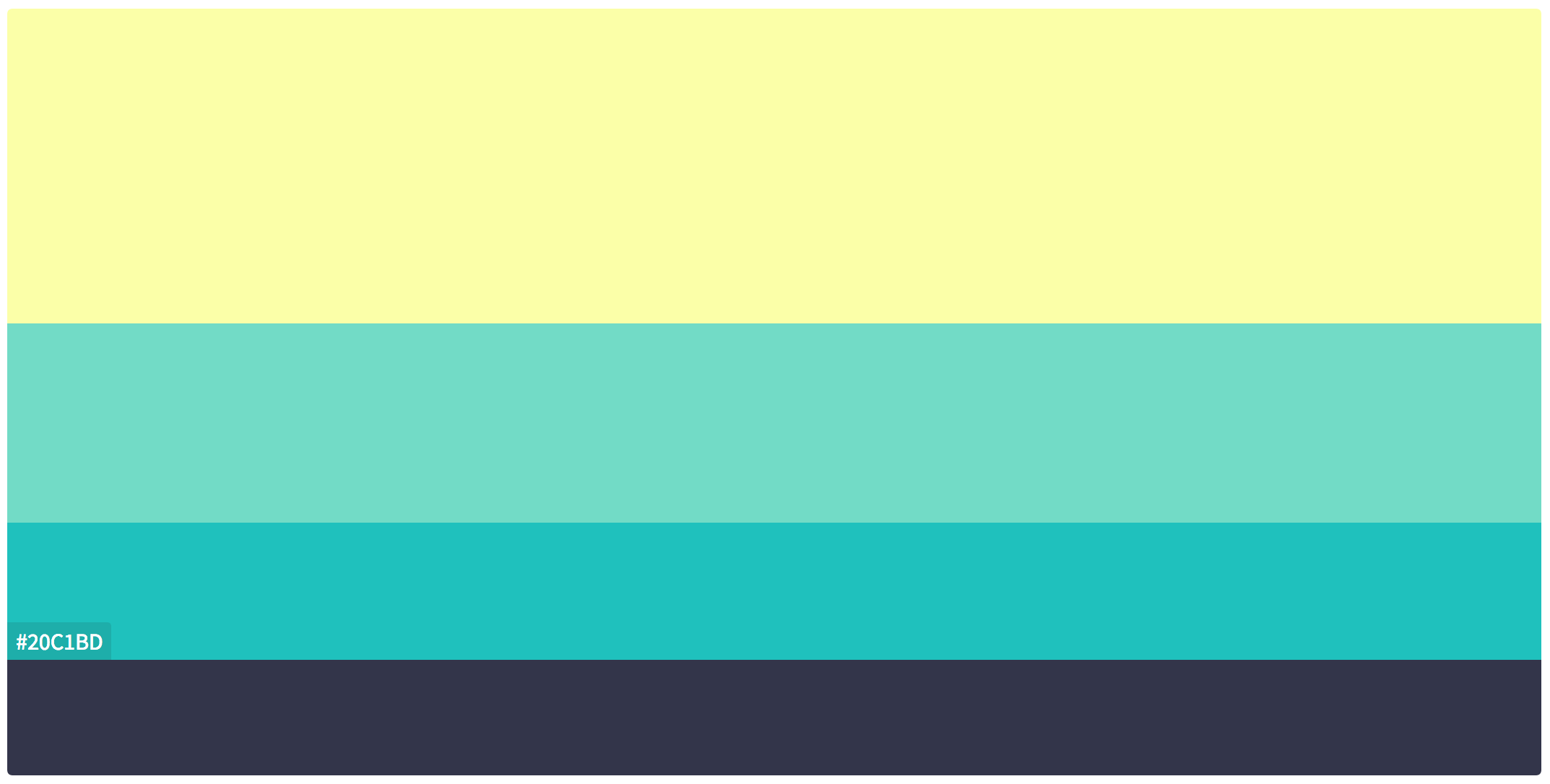 A color palette example from Color Hunt