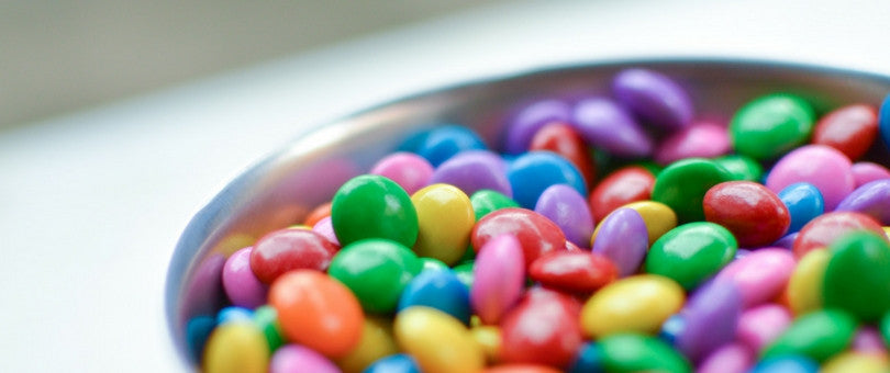 Colorful candy in a bowl