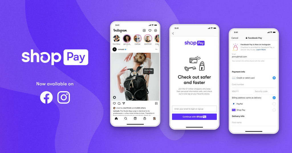 An Image of checkout on Instagram with Shop Pay