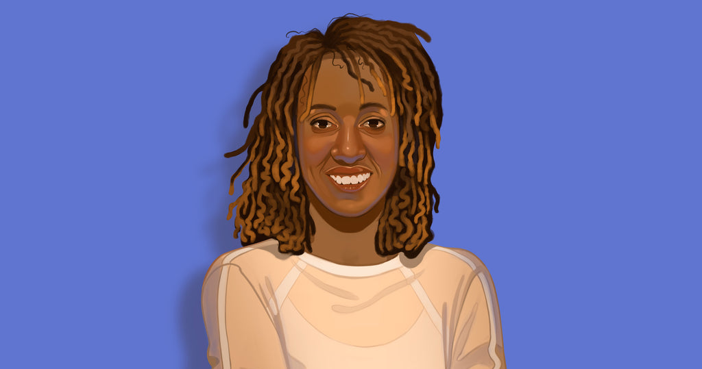 Portrait illustration of Melony Armstrong founder of Naturally Speaking.