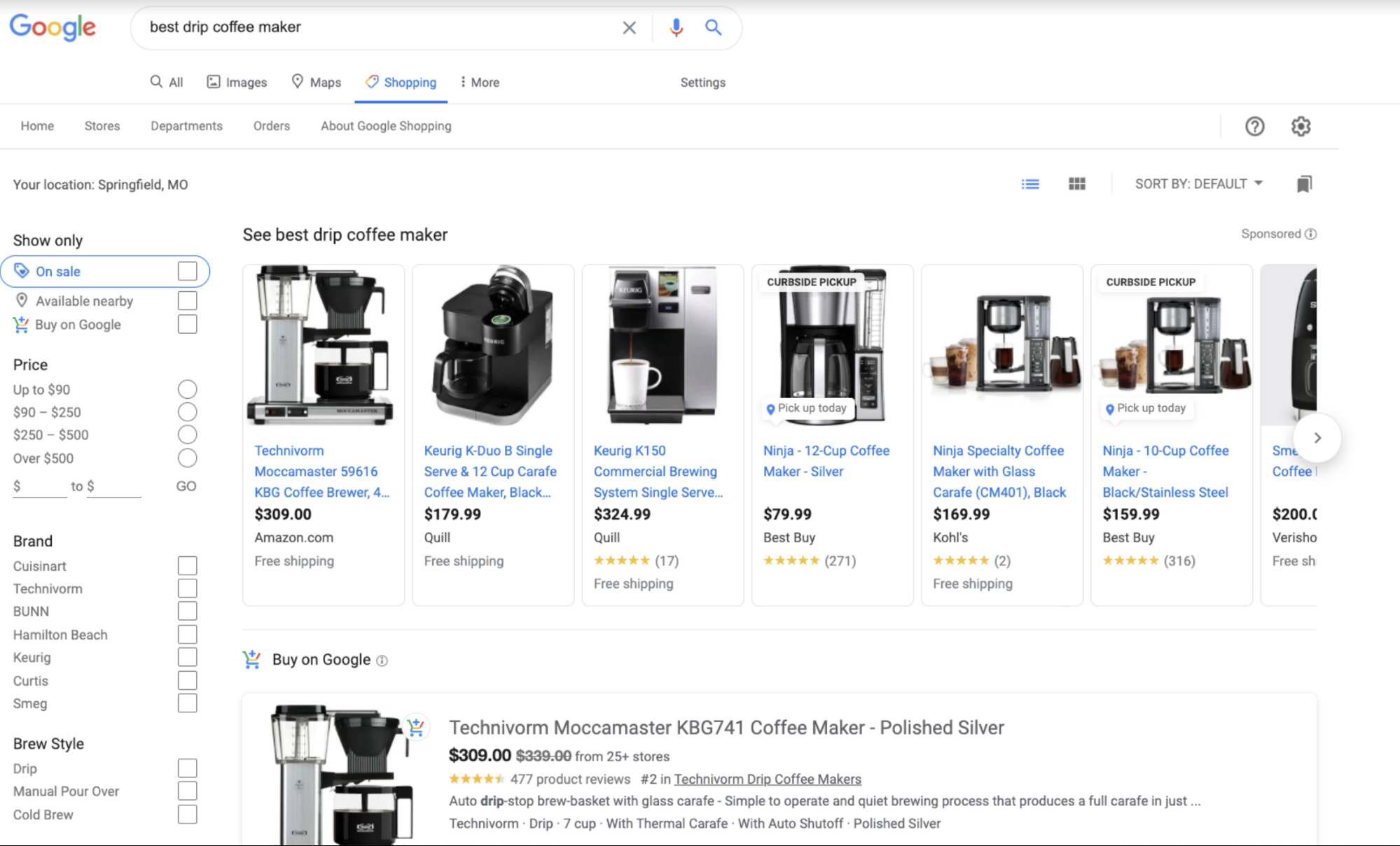 Free Shopping placements are available on the Shopping tab and in Google Images results, Google Lens, and more
