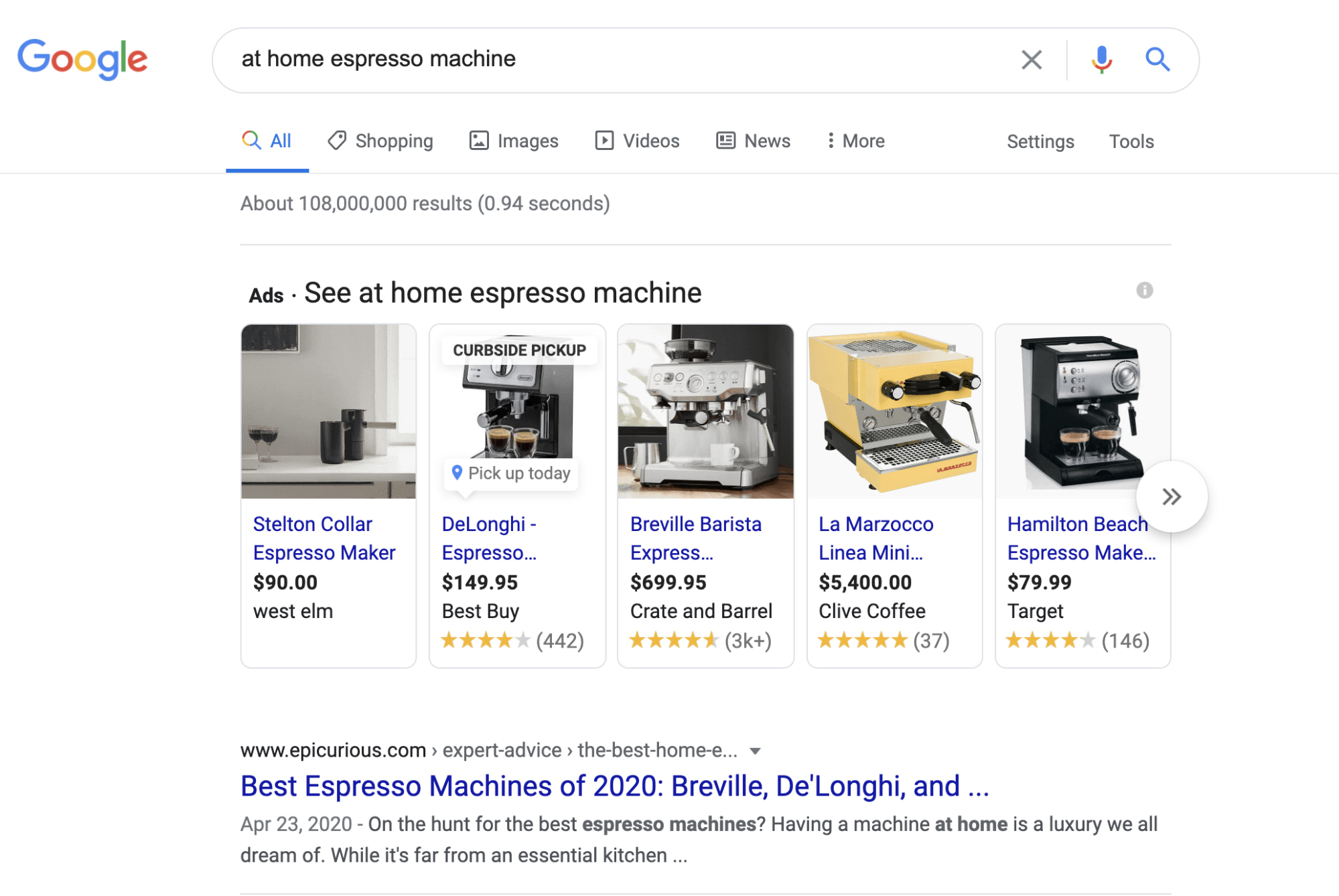 Paid placements only Shopping Ads appear in Google listings