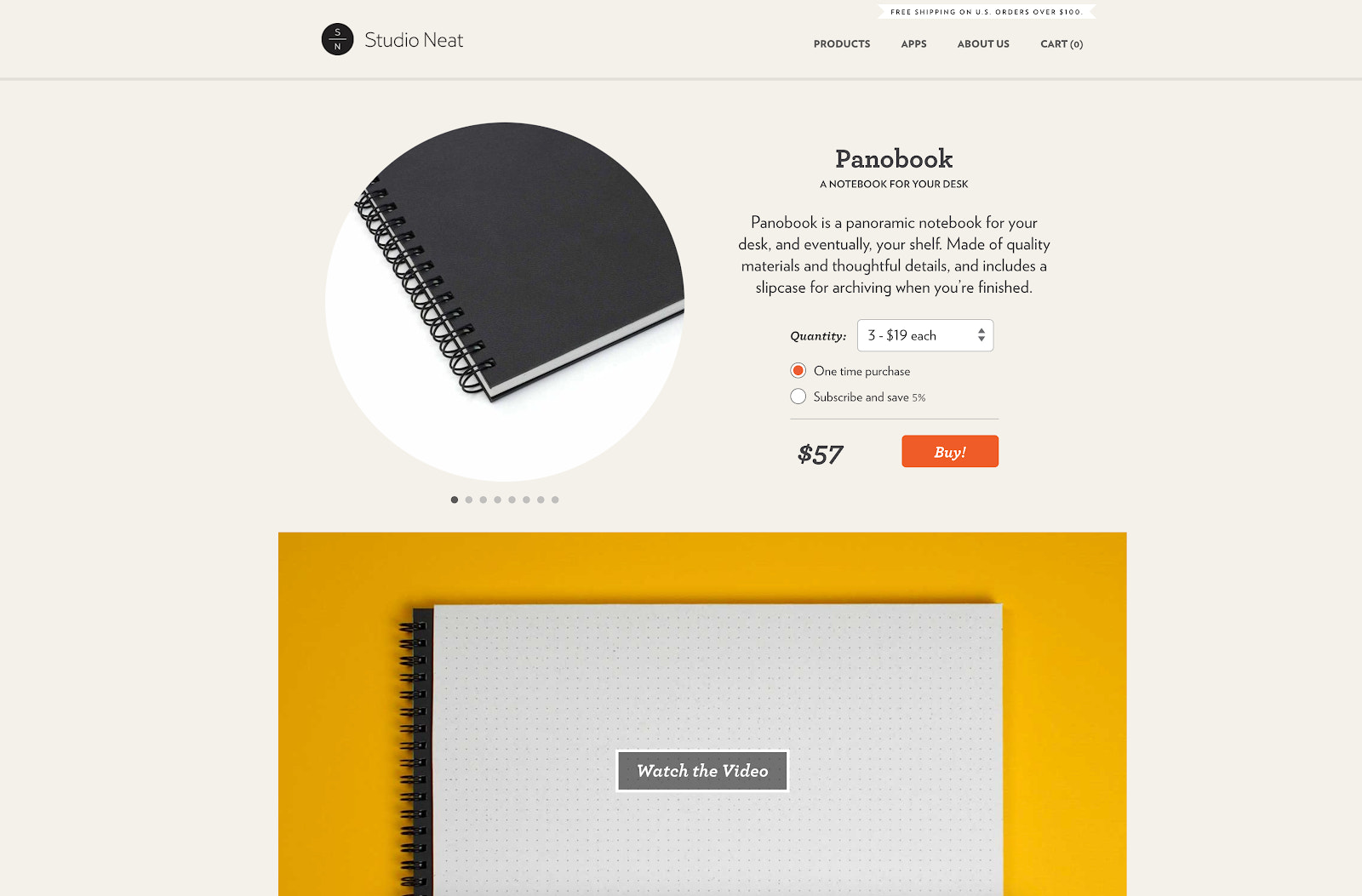 Studio neat product page