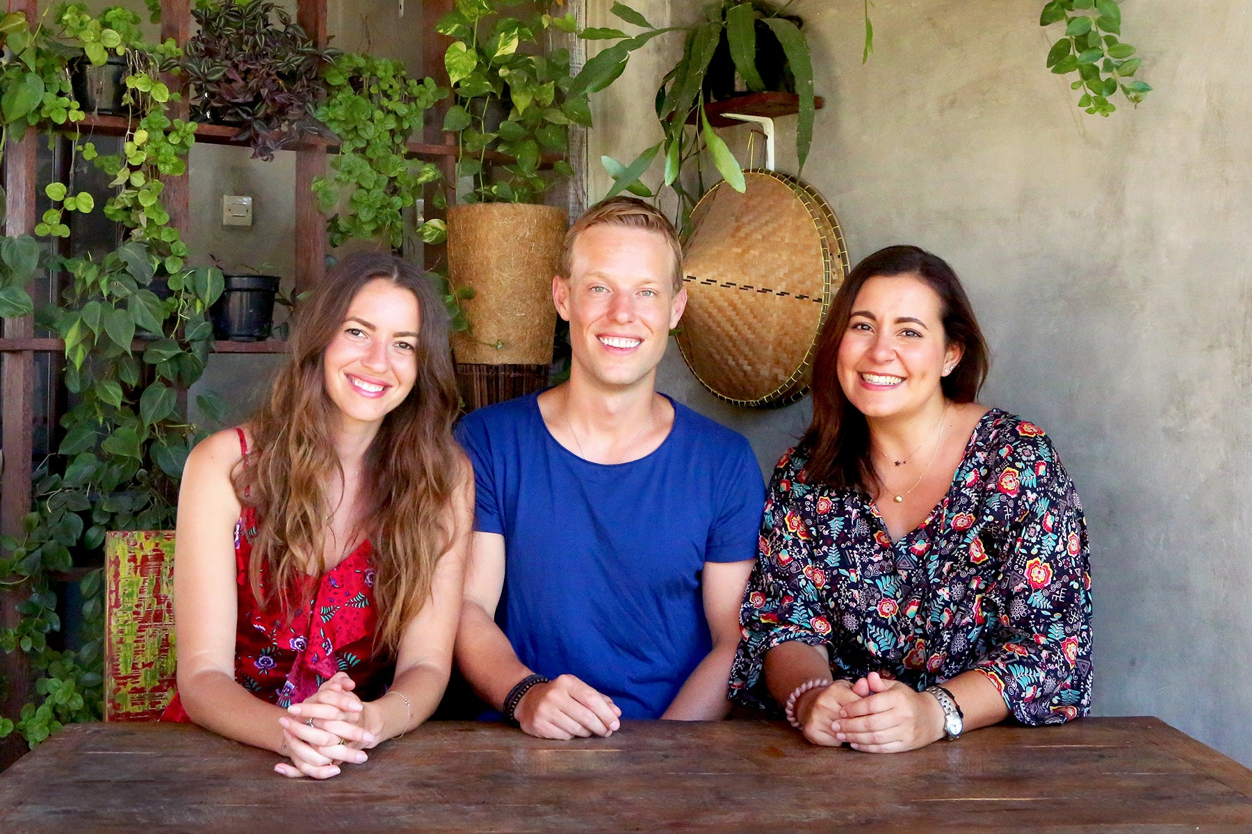 The TAMGA Designs team: founders Yana Dales (left) and Eric Dales (center) and head designer Anna Valero Domenech (right).