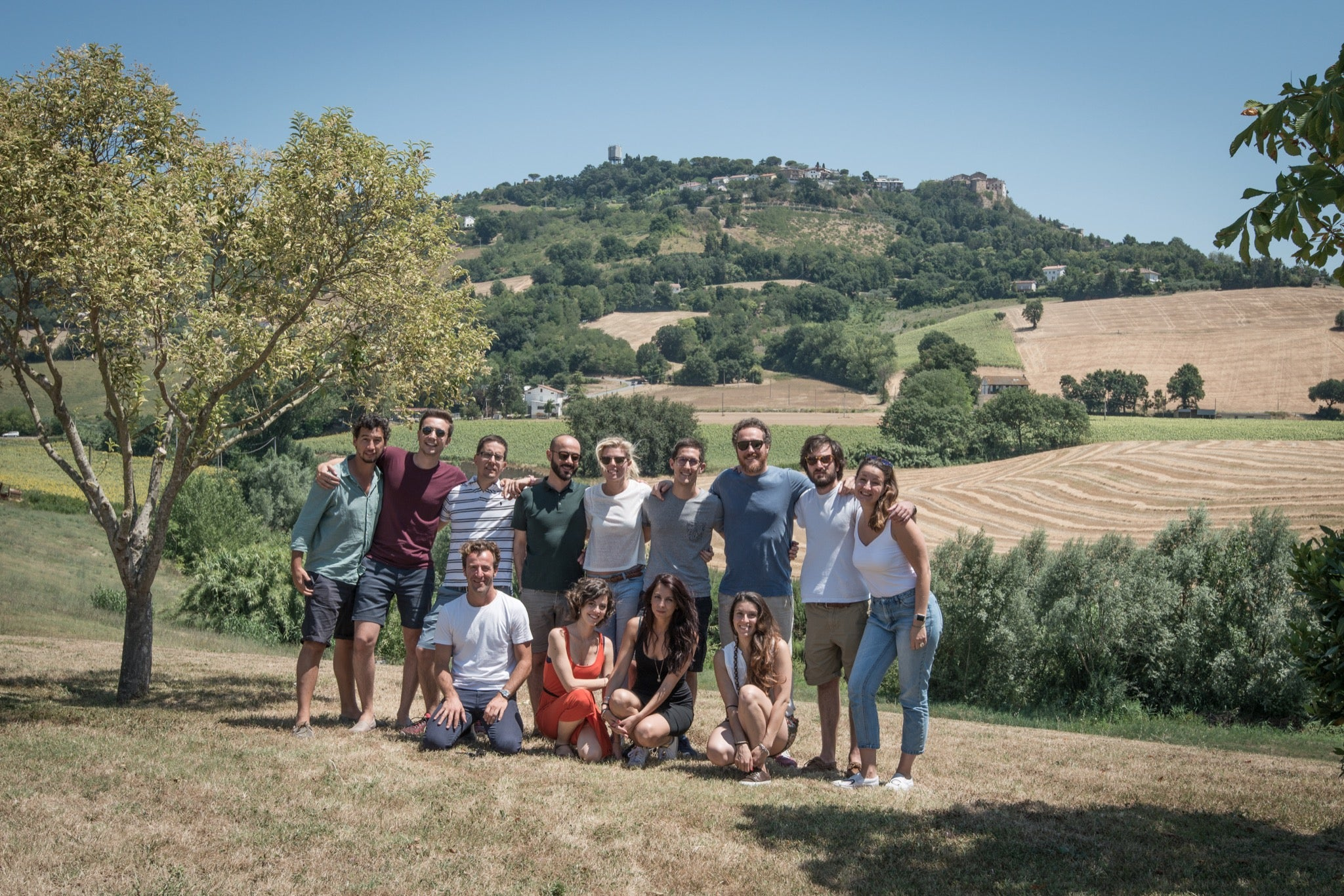 The Velasca team during an offsite.