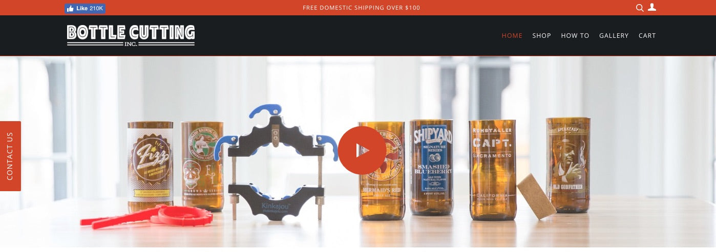 bottlecutting homepage video header