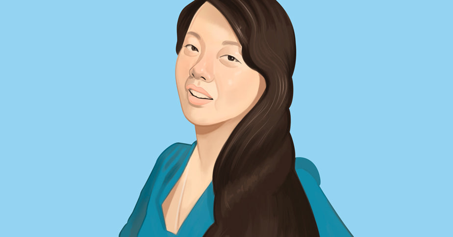 Illustration of Tina Gong, founder of Labyrinthos