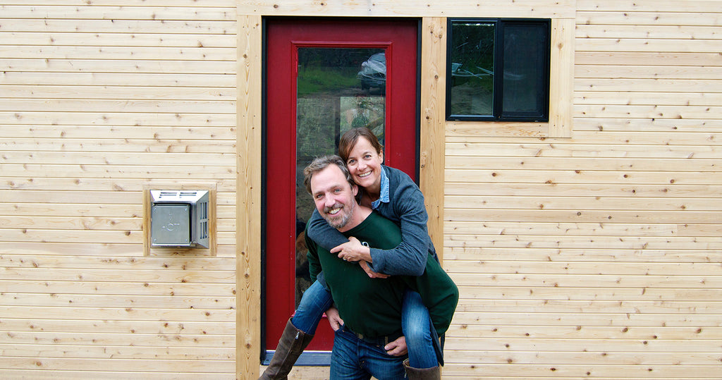 Gabriella and Andrew Morrison, tiny house builders