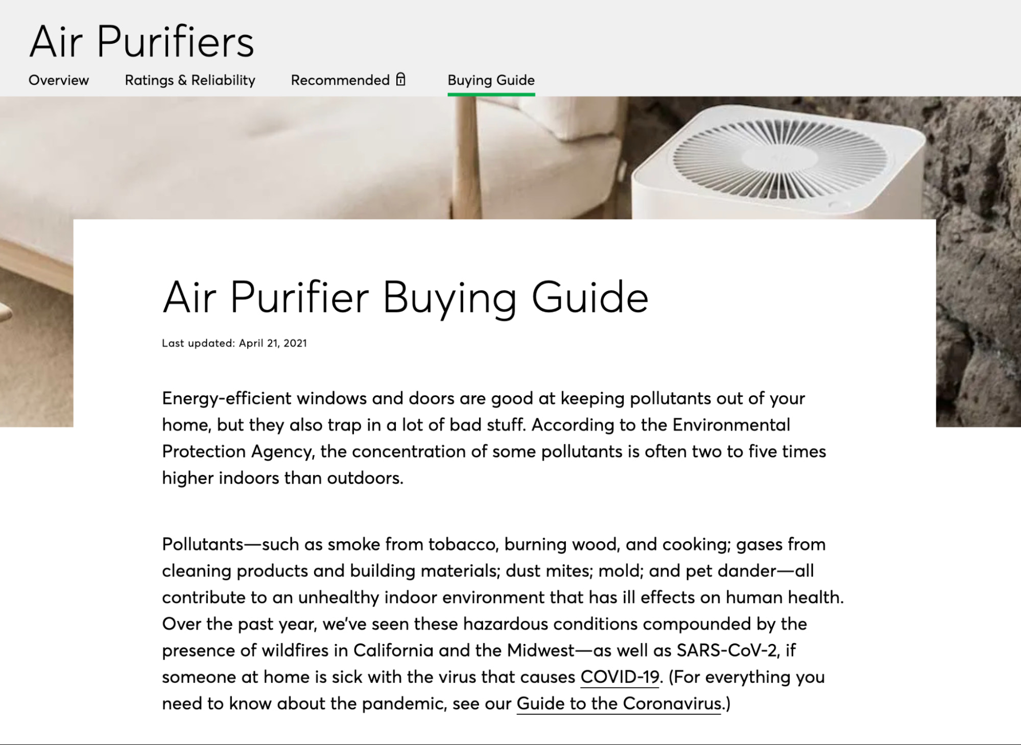 product buying guide by consumer reports