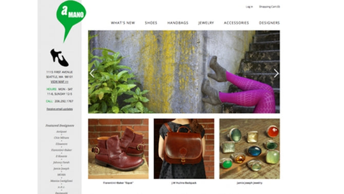 ecommerce website powered by shopify