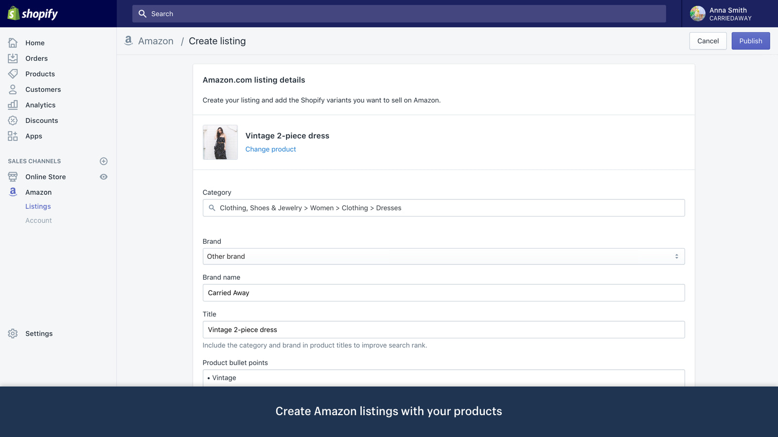 Start Selling on Amazon With Shopify — Announcements
