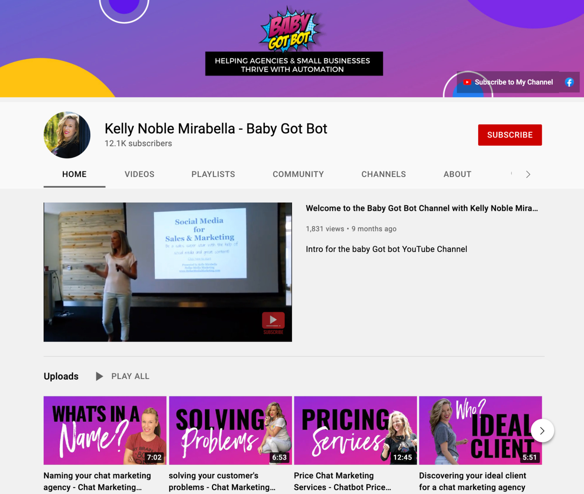 YouTube marketing can earn you money through speaking gigs like Baby Got Bot
